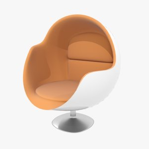 3D sleek futuristic chair model
