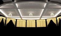 3D ceiling ballroom chandelier