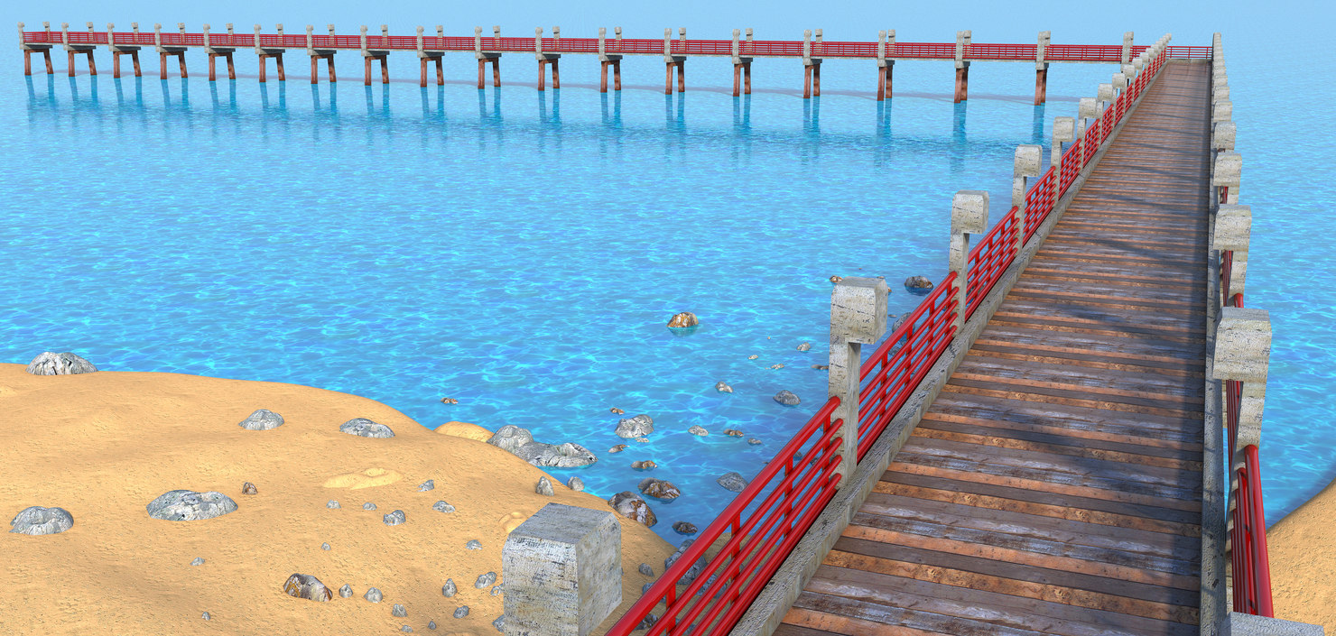 beach dock model