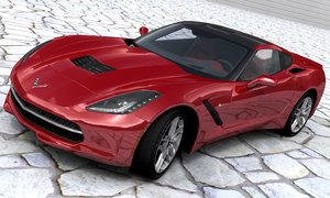 3D chevrolet corvette c7 stingray