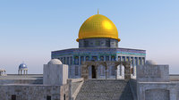 dome of the rock 3d model