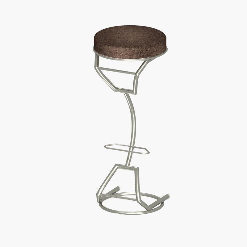 modern bar stools design 3D model