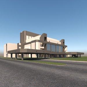 3dmodel concert hall 3D