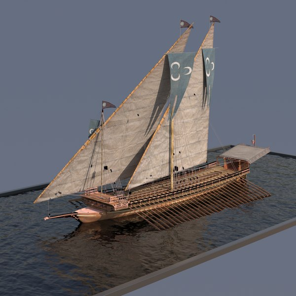ottoman galley 3D model