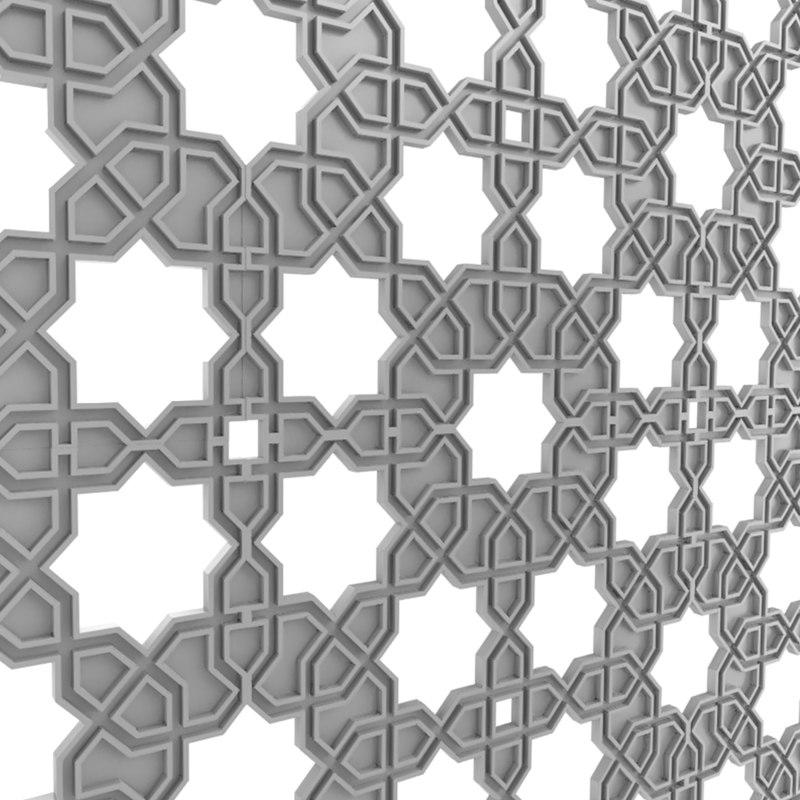 3D arabic decorative pattern
