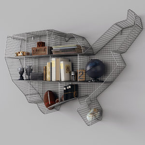 3D model shelf usa zinc maps