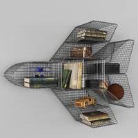 shelf jet zinc 3D