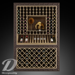 3D wine cabinet decoquality