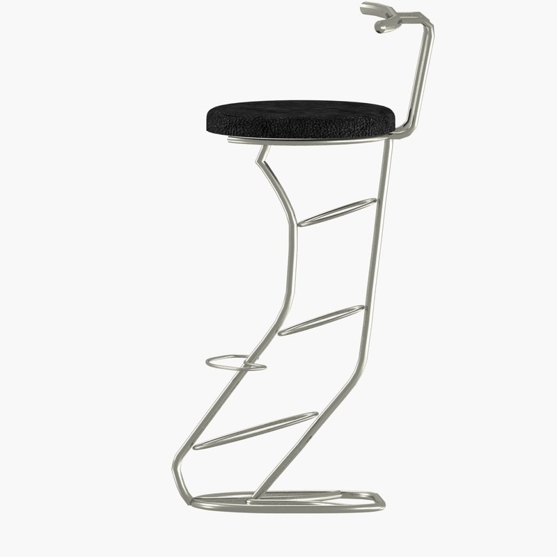 3D modern bar stools model