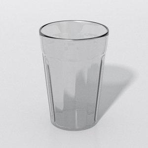 3D glass cup copo americano