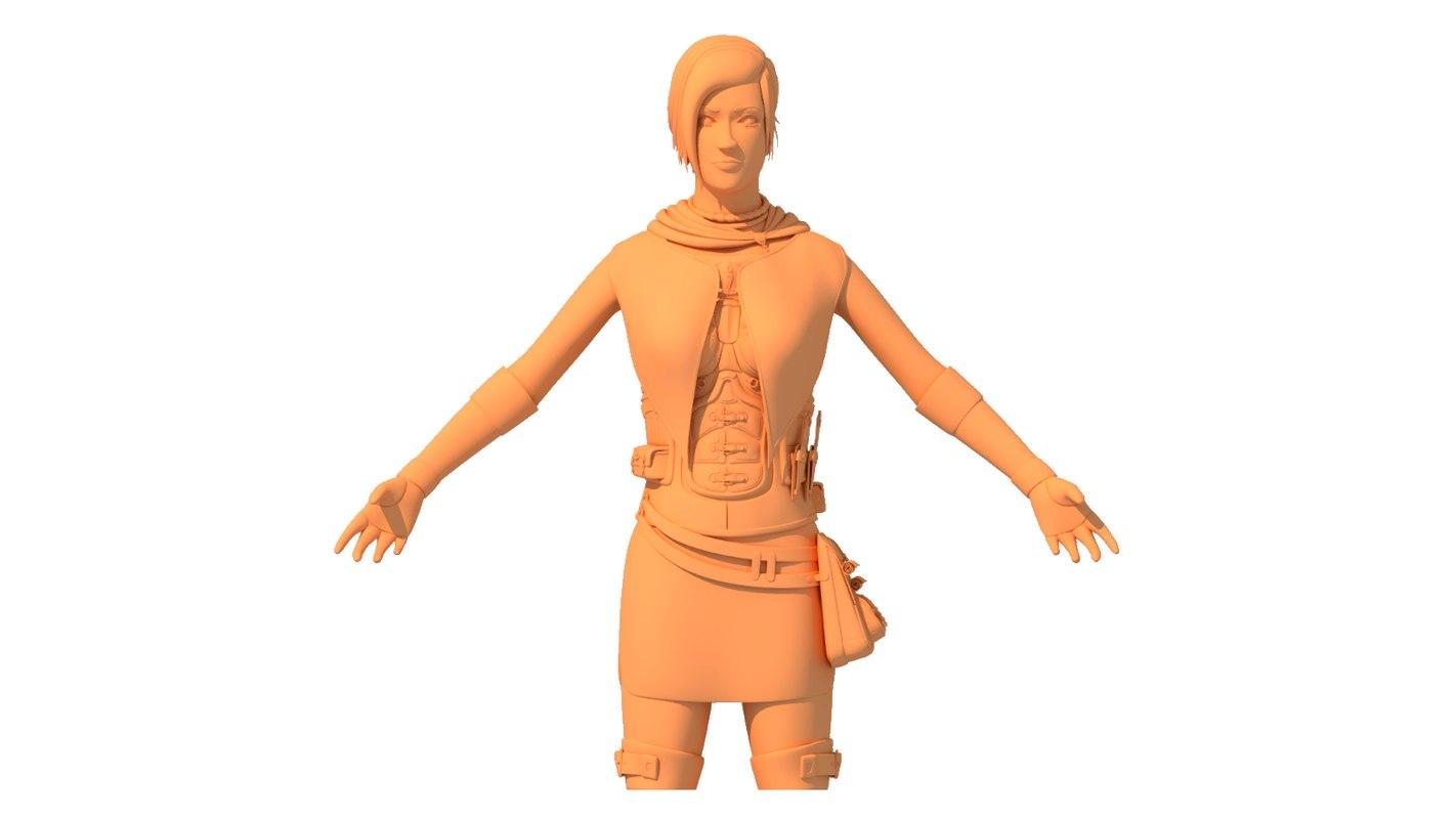 3D female rogue