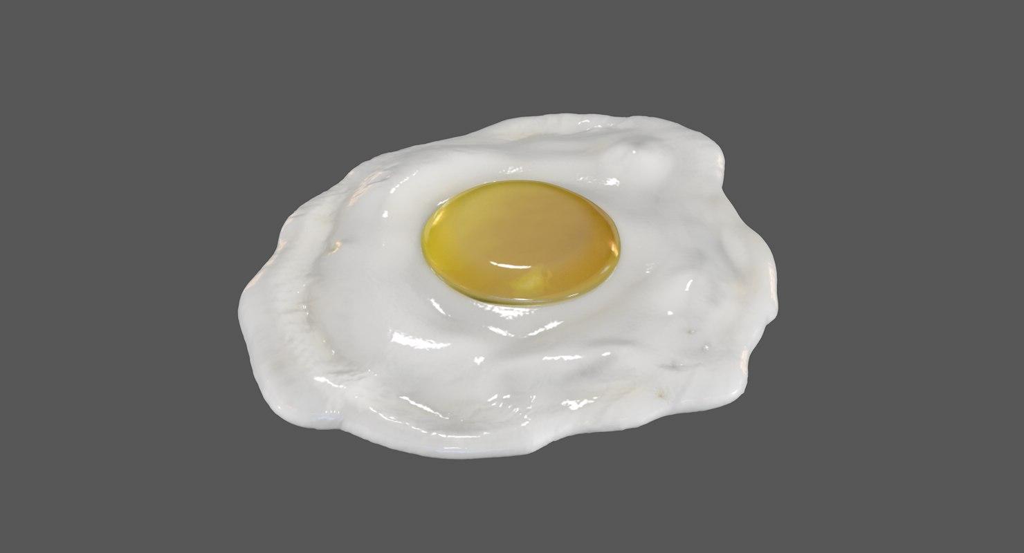 3D egg fried