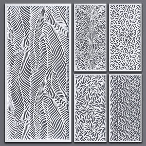 3D decorative partitions model