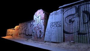 graffiti fence 1 3D