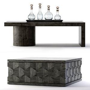 3D linea cocktail table model