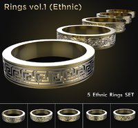 rings ornaments 3D