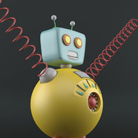 3D robot cartoon