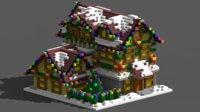 3D voxel xmas house model