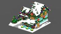 3D model voxel house