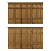 3D model wooden panels wood wall