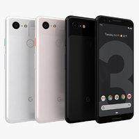 3D model google pixel 3 color