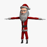 3D cartoon santa claus 3
