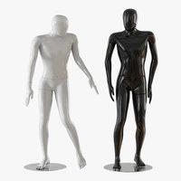 mannequin black white 3D model