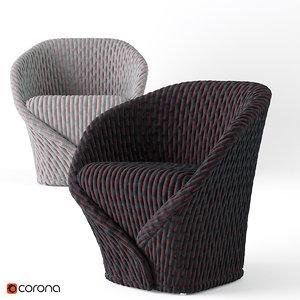 moroso talma armchair 3D model