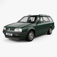 3D volkswagen golf variant model