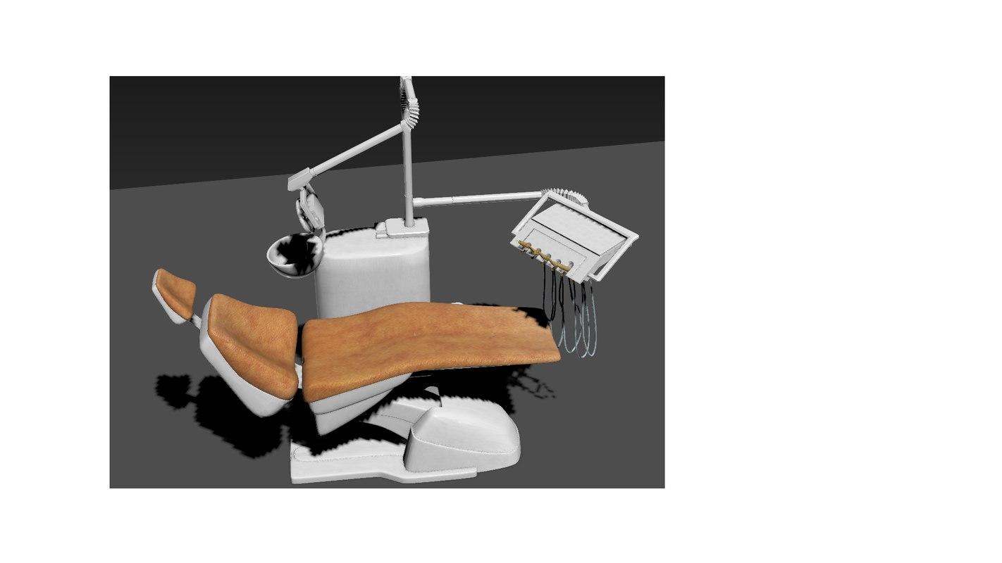 3D model dental arm chair