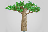 3D model baobab tree