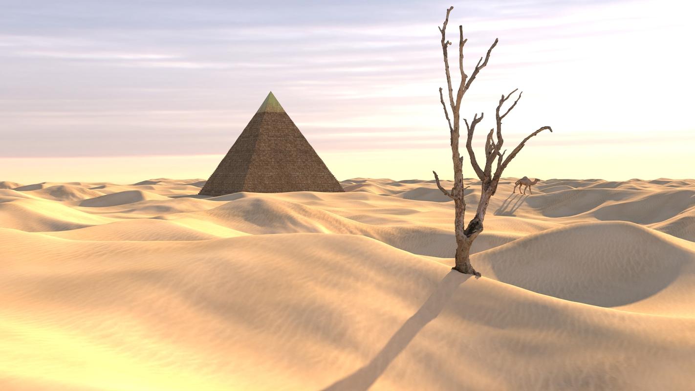 3D egypt sahara desert scene