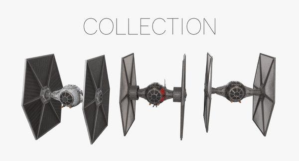 3D tie fighters