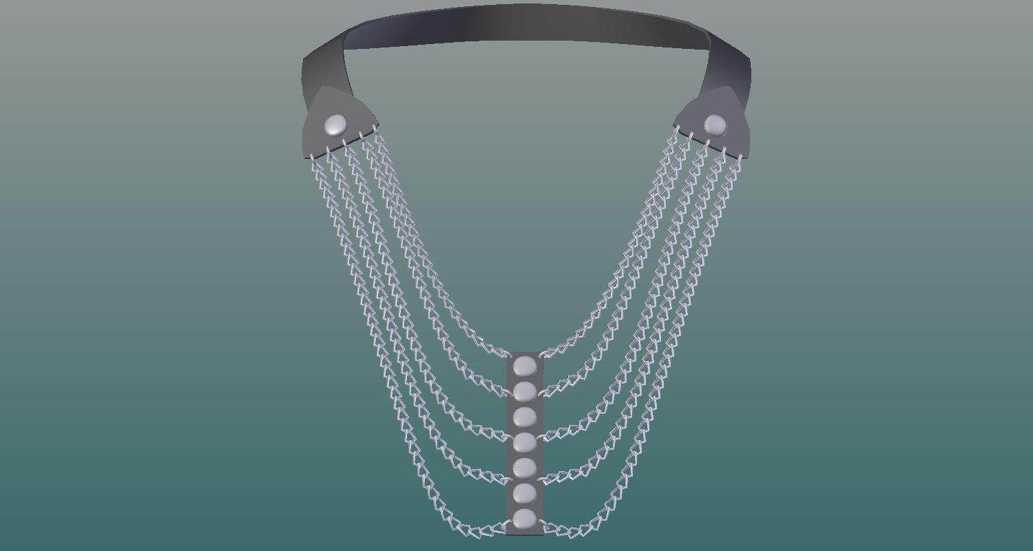 necklace 3D
