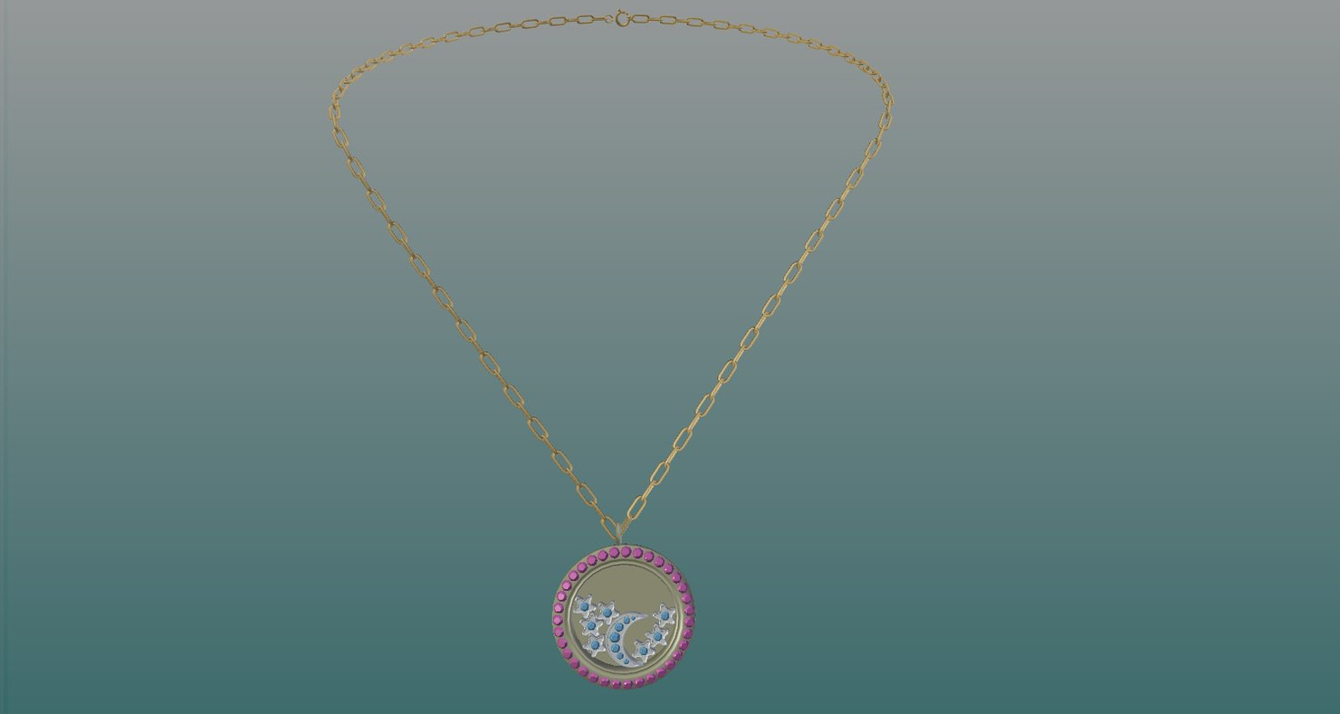 3D jewelry necklace