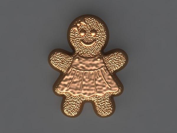 cookie girl 3D model