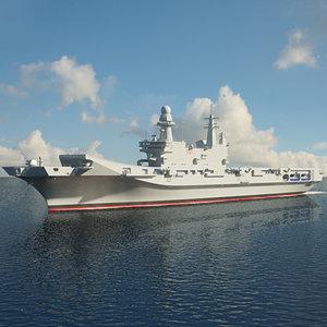 cavour carrier aircraft model