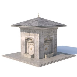 3D ottoman fountain