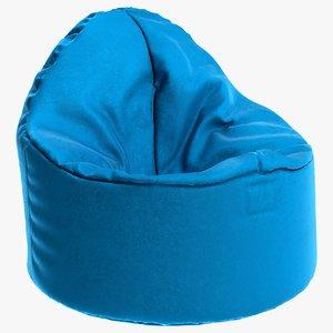 pouf blue 3D model