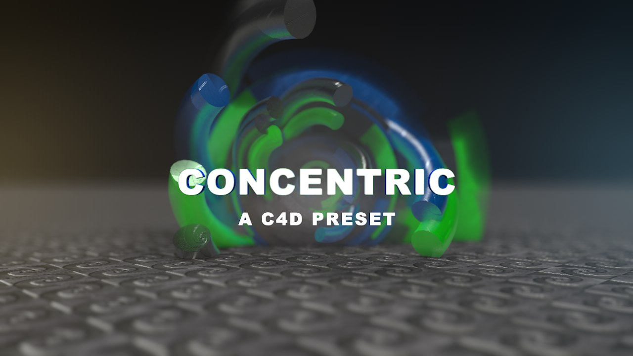 3D concentric preset model