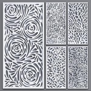 decorative partitions pattern 3D model