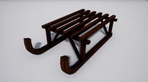 3D furniture norvedem sled model