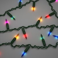 strings christmas light 3D
