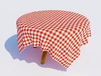 table cloth 3D