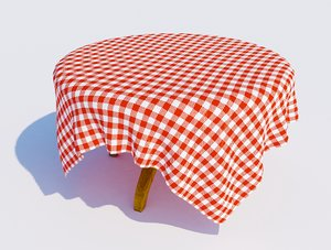table cloth 3D