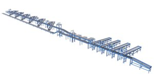 3D barcode cognex conveyor model