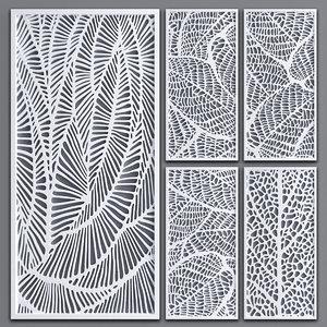3D decorative partitions pattern model