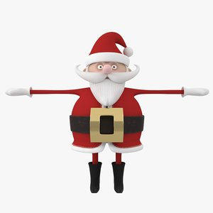 3D cartoon santa claus