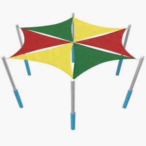 playground tent 3D model