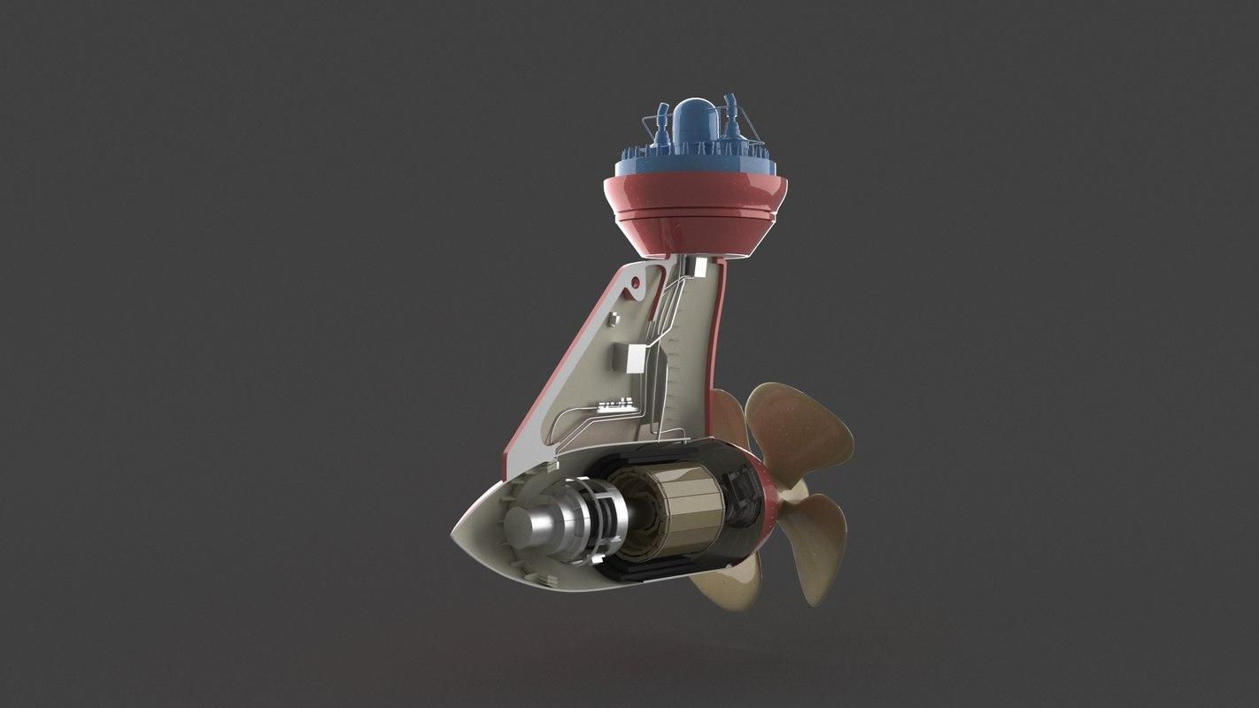 propeller boat roll model